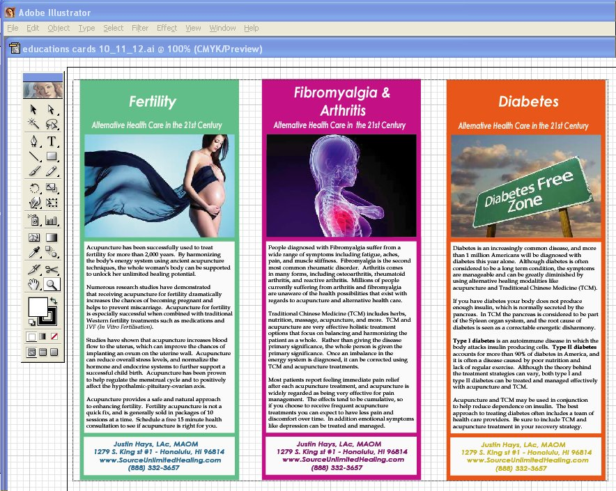 Free Acupuncture Education Cards Brochures